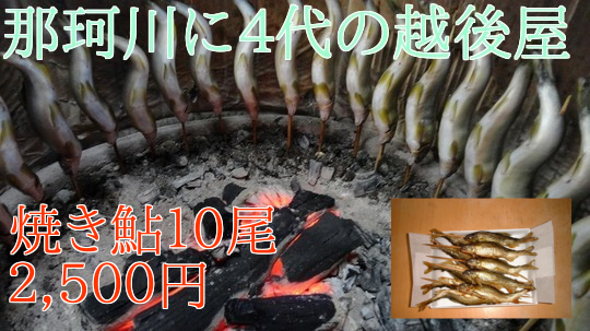 焼き鮎10尾2500円養殖